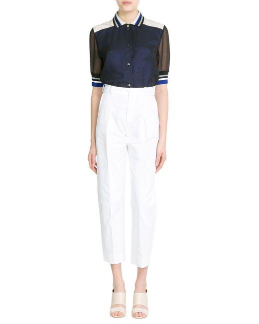 Bouchra Jarrar | White Cropped Cotton Pants | Lyst