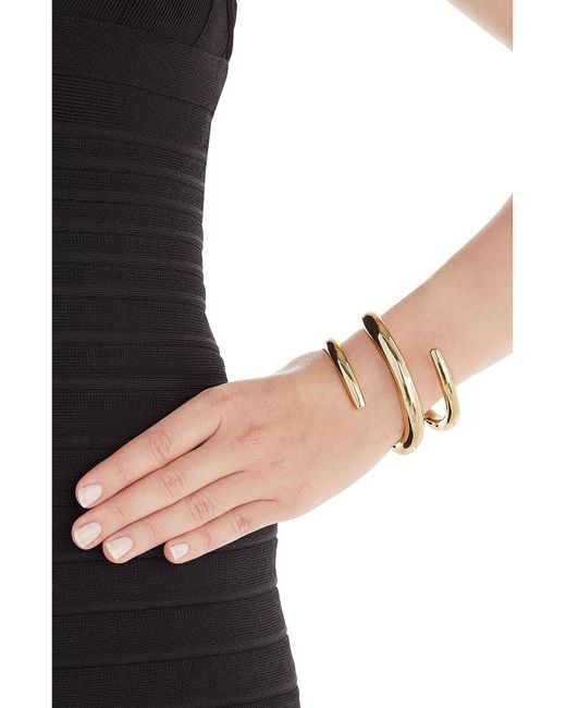 Jennifer Fisher | Metallic 14kt Gold Plated Cuff | Lyst