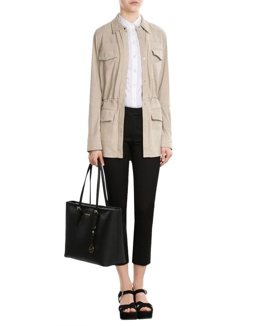 Vince | Multicolor Leather Jacket With Drawstring Waist | Lyst