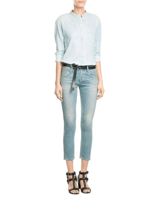 Citizens of Humanity | Blue Lennox Low-rise Cropped Boyfriend Jeans | Lyst