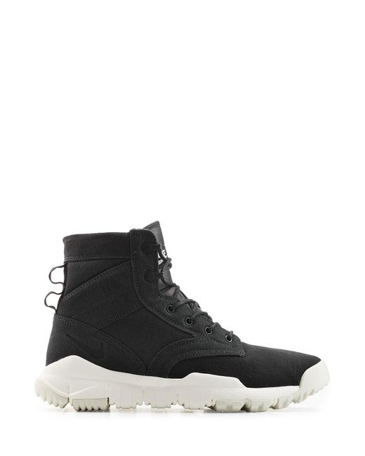 Nike Sfb Field Boot Sneakers With Leather In Black For Men