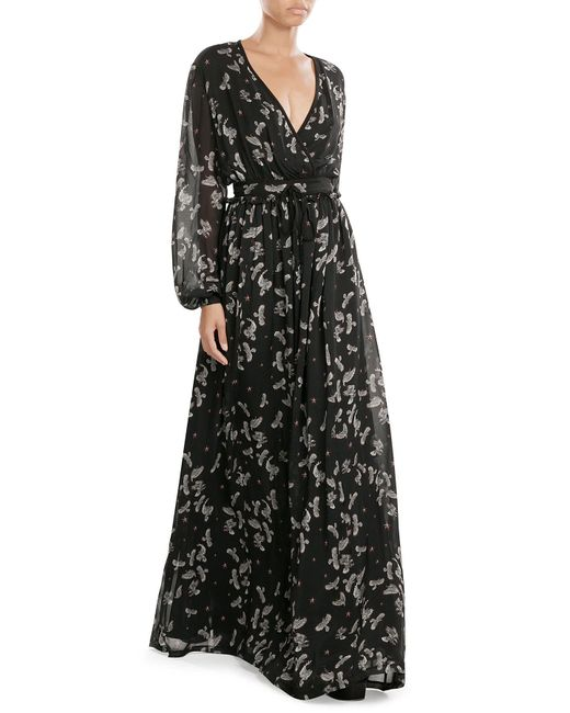 Just Cavalli | Black Lace-print Jersey Dress | Lyst