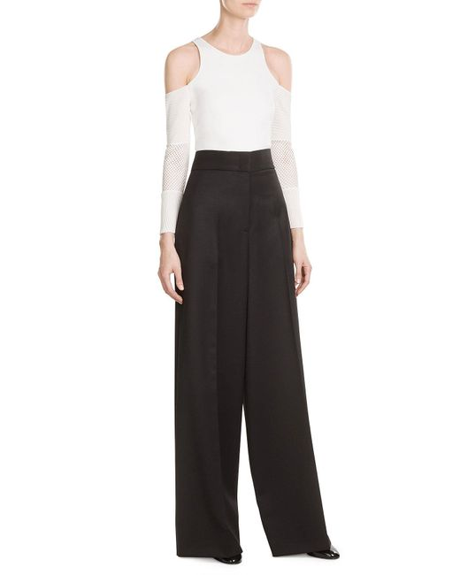Jil Sander | Black Wool High-waisted Trousers | Lyst