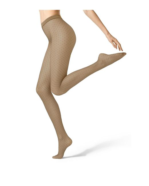 Fogal | Natural Sheer Spotted Tights | Lyst