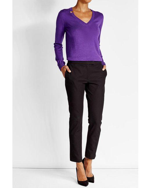 Nina Ricci   Purple Wool Pullover With Silk   Lyst