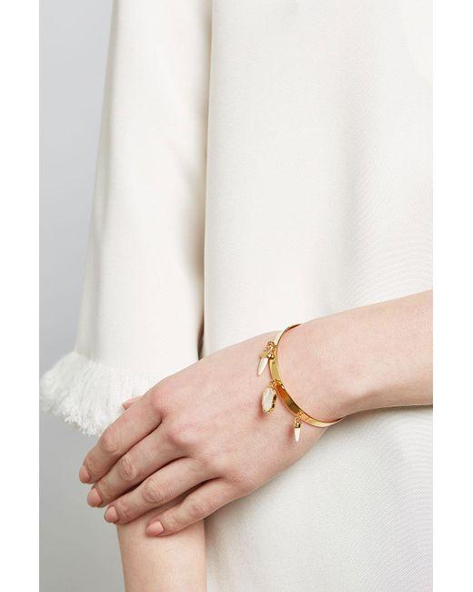 Étoile Isabel Marant | Metallic Bangle Bracelet With Bone | Lyst