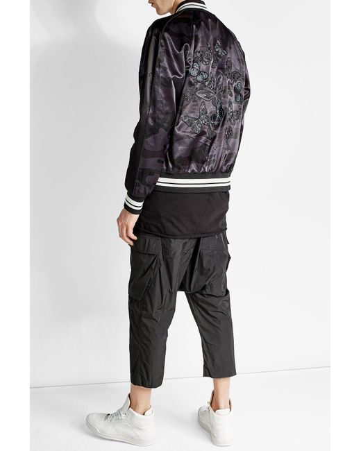Rick owens Midi Cargo Drawstring Pants in Black for Men | Lyst