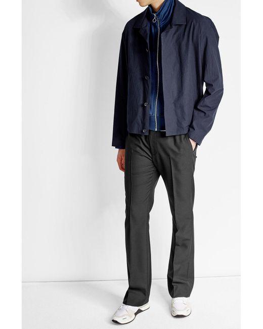 Jil Sander | Blue Cotton Jacket for Men | Lyst