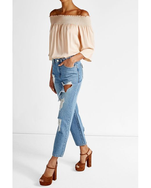SJYP | Blue Distressed Jeans | Lyst