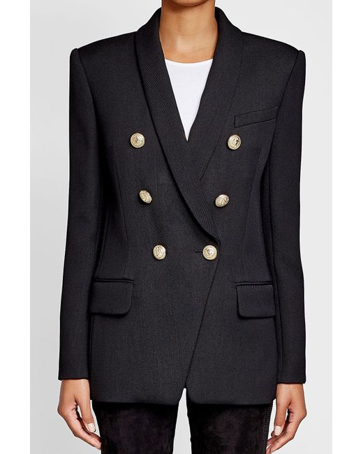 Balmain | Multicolor Wool Blazer With Embossed Buttons | Lyst