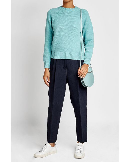 A.P.C. | Blue Wool Pullover | Lyst