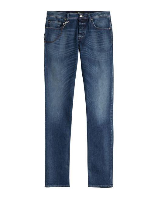 7 For All Mankind - Blue Standard Straight Leg Jean for Men - Lyst