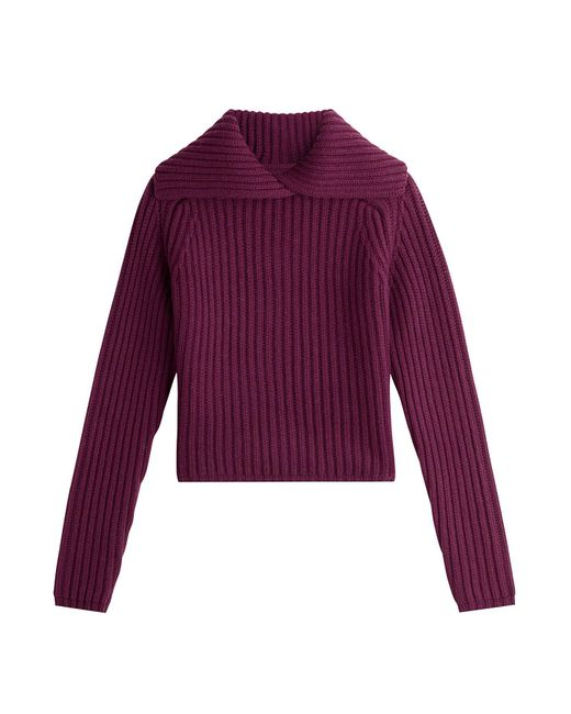 Carven - Purple Wool Pullover - Lyst