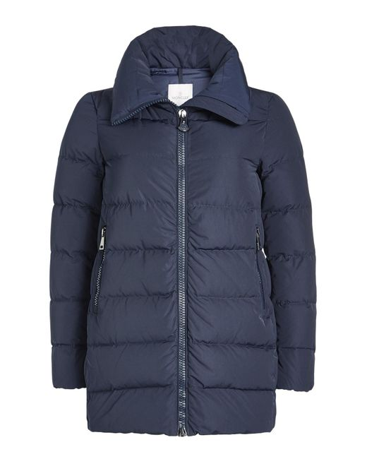 Moncler - Blue Quilted Down Coat - Lyst