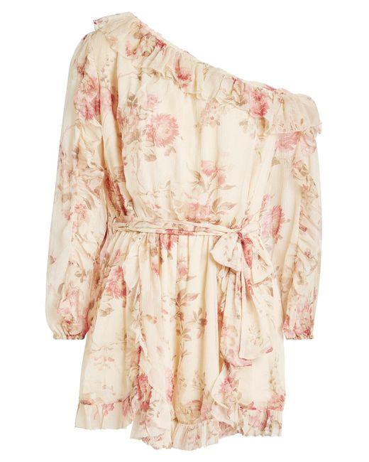 Zimmermann | Multicolor Printed Silk Chiffon Dress | Lyst