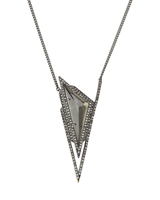 Alexis Bittar - Multicolor Pendant Necklace With Crystals - Lyst