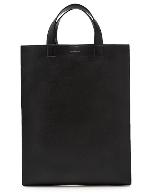 Jil Sander - Black Layout Leather Tote - Lyst