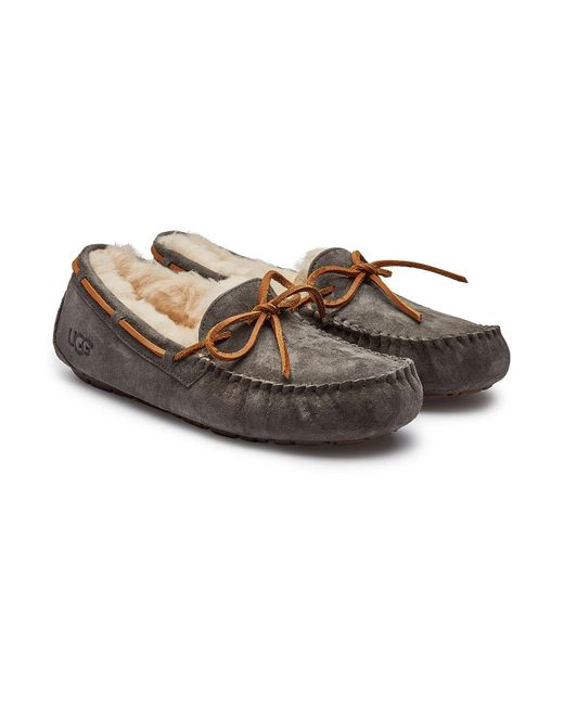 acb3fbe0eff4f1 Ugg - Multicolor Dakota Suede Slippers With Shearling Insole - Lyst ...