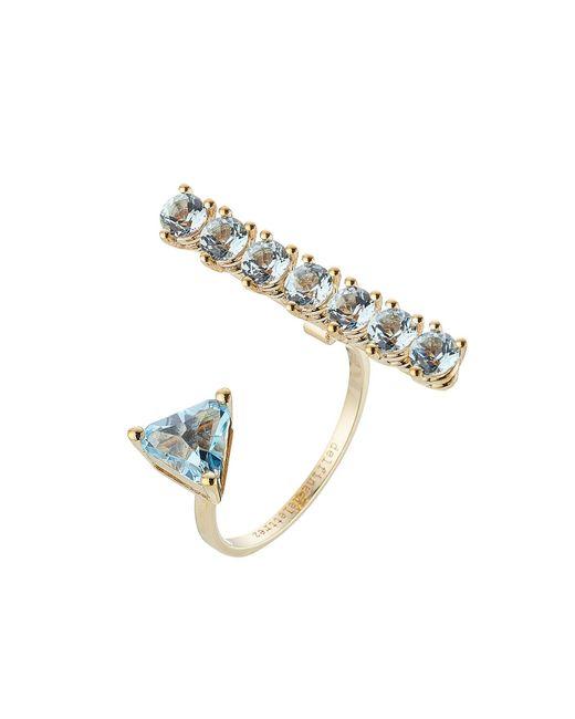 Delfina Delettrez - Metallic 9kt Yellow Gold Ring With Topaz - Lyst