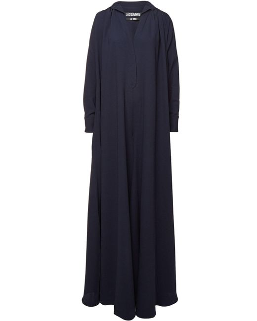 Jacquemus - Blue L'ensemble Djellaba Virgin Wool Maxi Dress - Lyst