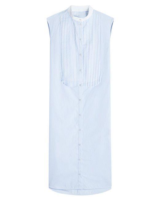 Victoria, Victoria Beckham - Blue Striped Cotton Dress - Lyst