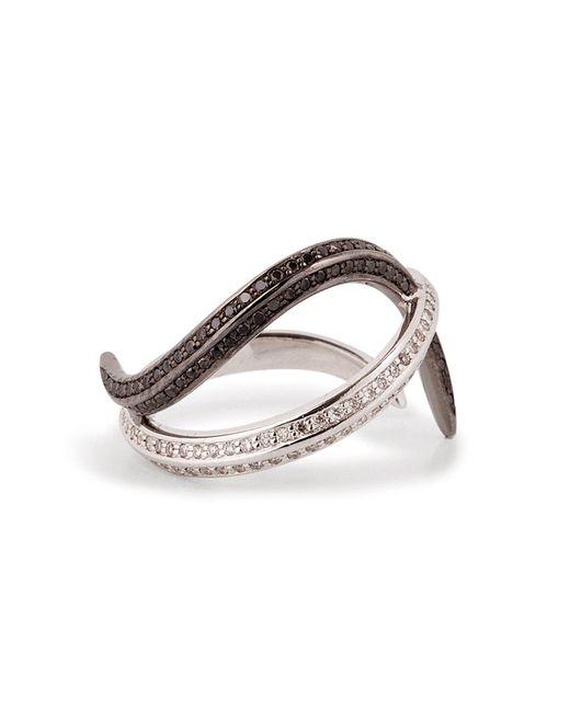 Nikos Koulis - Metallic 18kt Gold Thumb Ring With Black And White Diamonds - Lyst