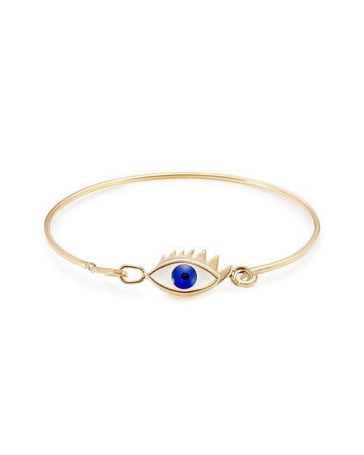 Delfina Delettrez - Metallic 9kt Gold-plated Silver Grandma Eye Bracelet - Lyst
