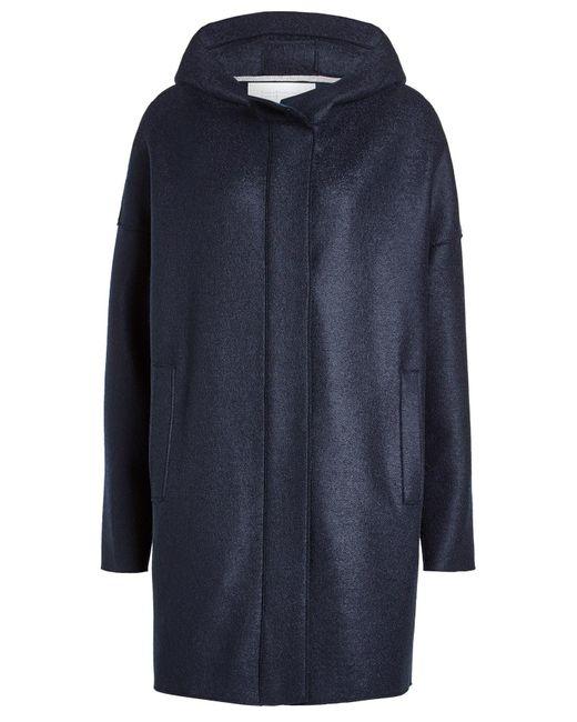 Harris Wharf London - Blue Virgin Wool Coat - Lyst