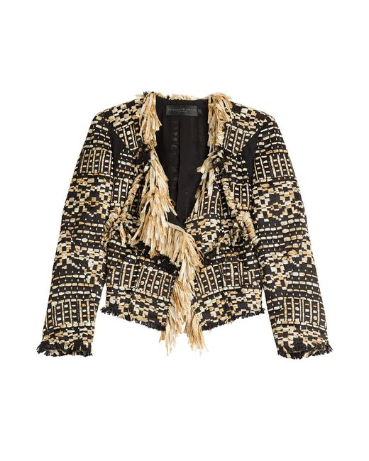 Donna Karan - Natural Tweed Jacket - Lyst
