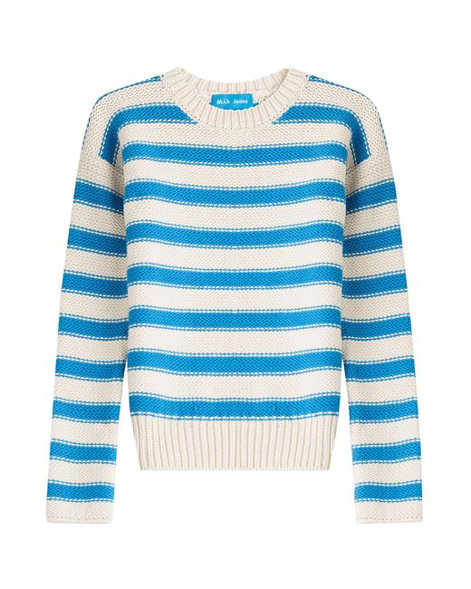 MiH Jeans - Blue Amorgos Striped Cotton Blend Pullover - Lyst