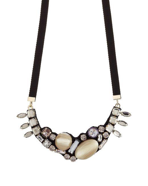 Marni - Black Crystal Embellished Necklace - Lyst