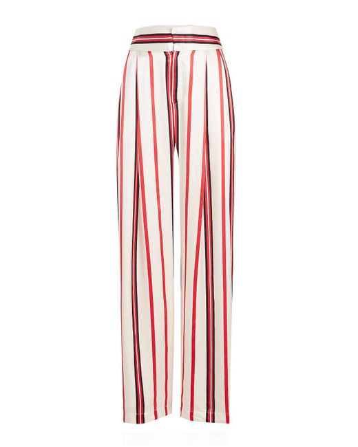 Maggie Marilyn - Red Love Unconditionally Striped Silk Pants - Lyst