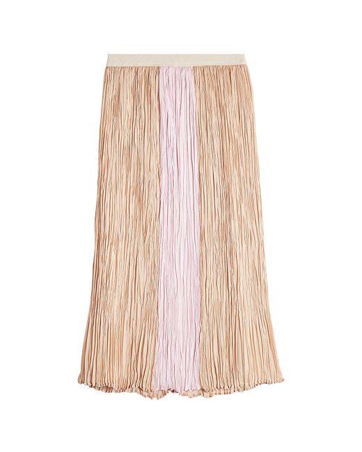 Agnona - Multicolor Pleated Silk Skirt - Lyst