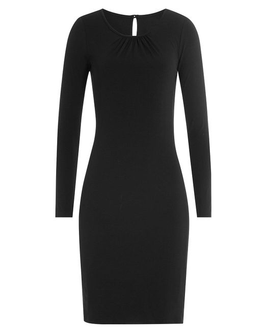 Velvet - Black Jersey Dress - Lyst