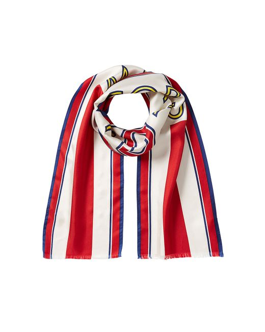 Marc jacobs Silk Football Scarf - Multicolor in Red