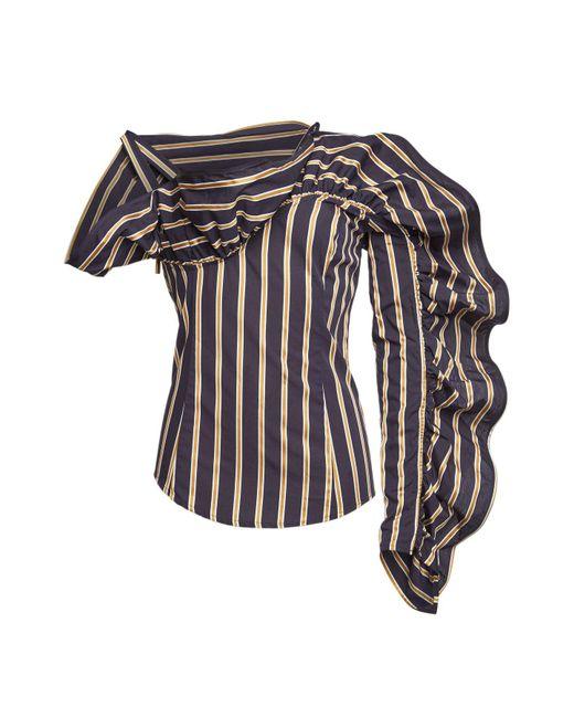 Silvia Tcherassi - Black Michelina Asymmetric Cotton Blouse - Lyst