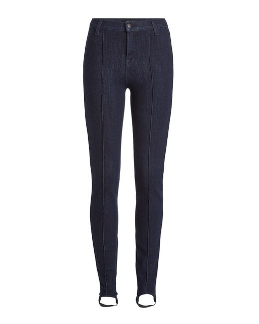 J Brand | Blue High Rise Stirrup Jeans | Lyst