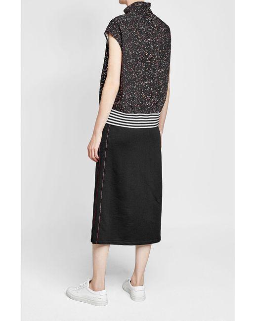 Women's Black Cotton Skirt by Public School