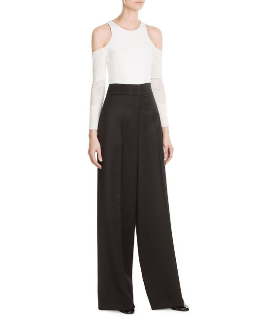 Jil Sander | Black Wool High-waisted Trousers | Lyst