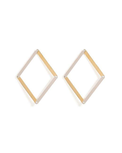 Delfina Delettrez - Metallic Silver Dettaille Unique Earrings - Lyst