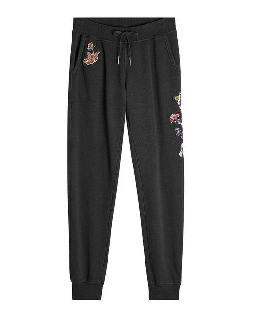True Religion | Black Embroidered Cotton Sweatpants | Lyst