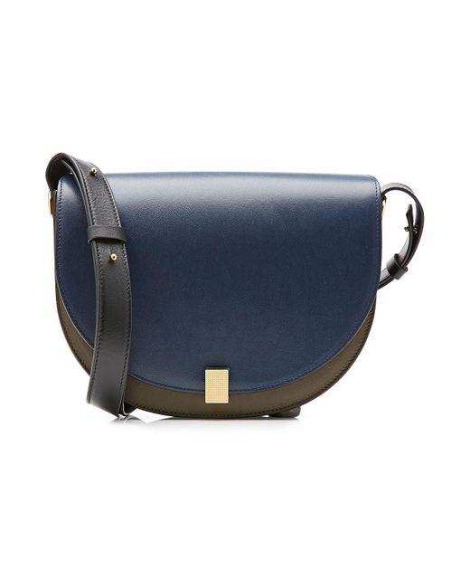 Victoria Beckham - Blue Two-tone Leather Shoulder Bag - Lyst