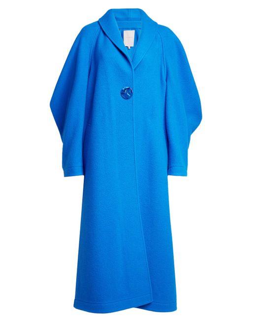 Roksanda - Blue Wool-cashmere Coat With Oversized Sleeve - Lyst
