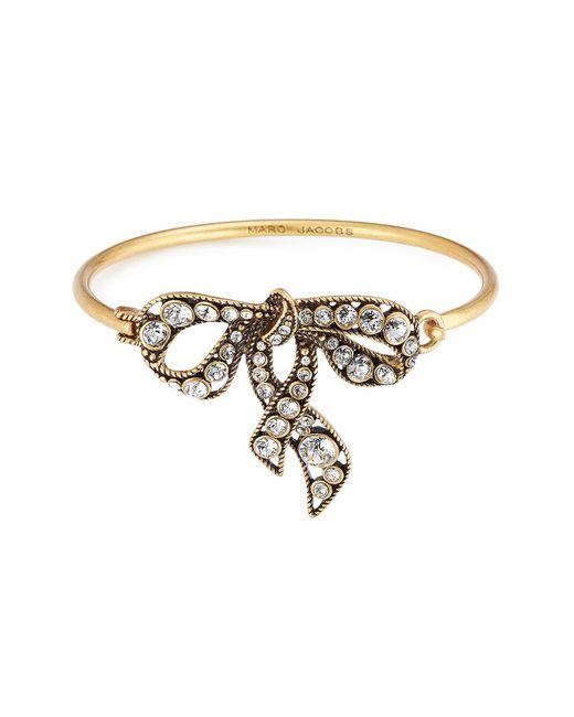 Marc Jacobs | Metallic Crystal Embellished Bow Bracelet | Lyst
