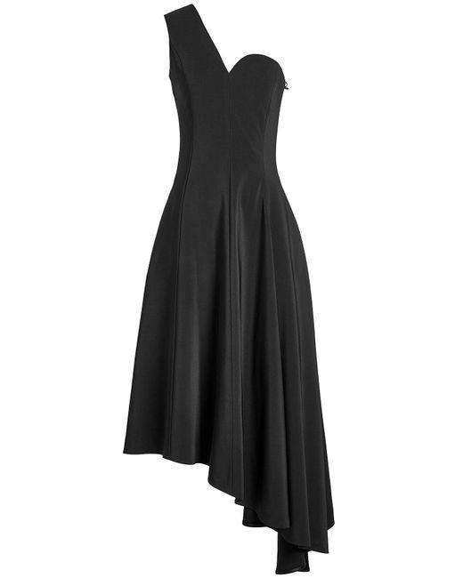 Rosetta Getty - Black One Shoulder Asymmetric Dress - Lyst