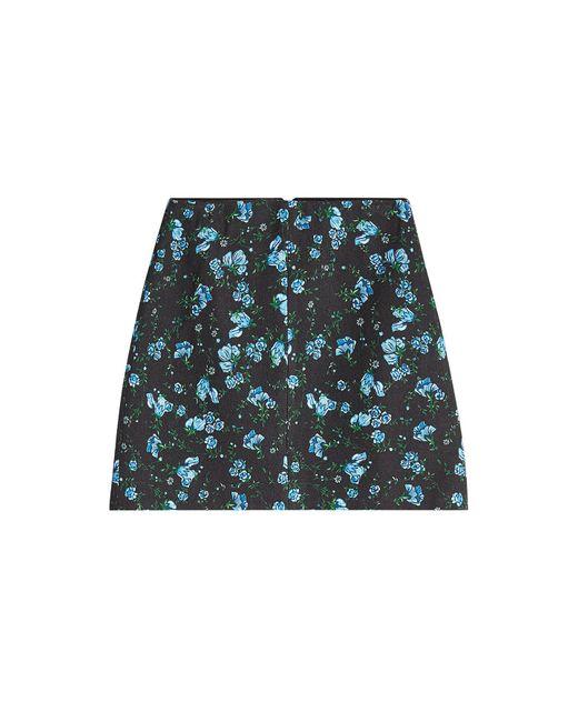 Emilia Wickstead - Blue Printed Wool Skirt - Lyst