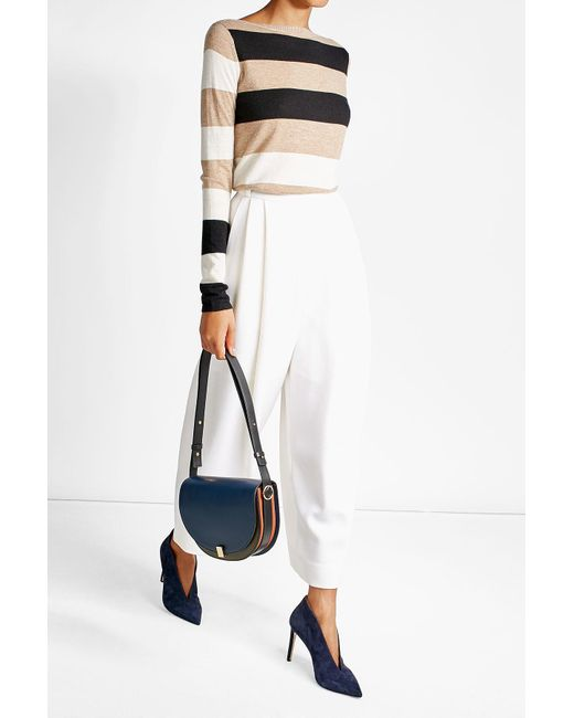 Victoria Beckham   Blue Two-tone Leather Shoulder Bag   Lyst