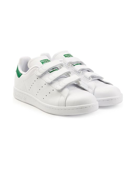 adidas originals stan smith velcro trainers for men save 2 lyst. Black Bedroom Furniture Sets. Home Design Ideas