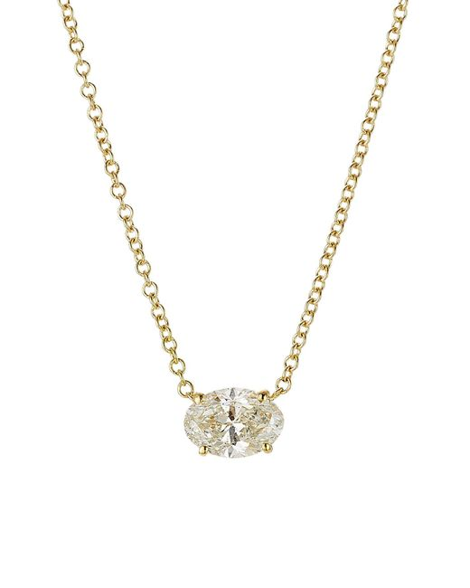 Ileana Makri - Metallic Pear Cut Diamond Necklace In 18k Yellow Gold - Lyst