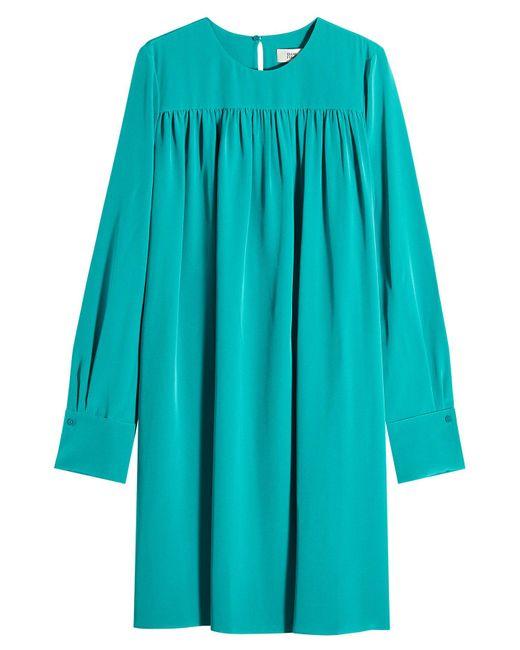 Diane von Furstenberg - Blue Silk Dress - Lyst
